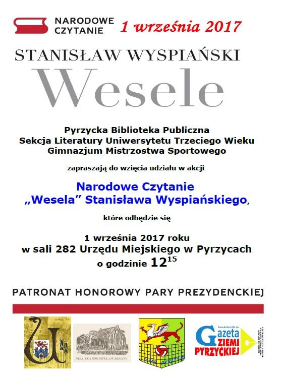 Narodowe Czytanie Wesela Stanisława Wyspiańskiego Pbp