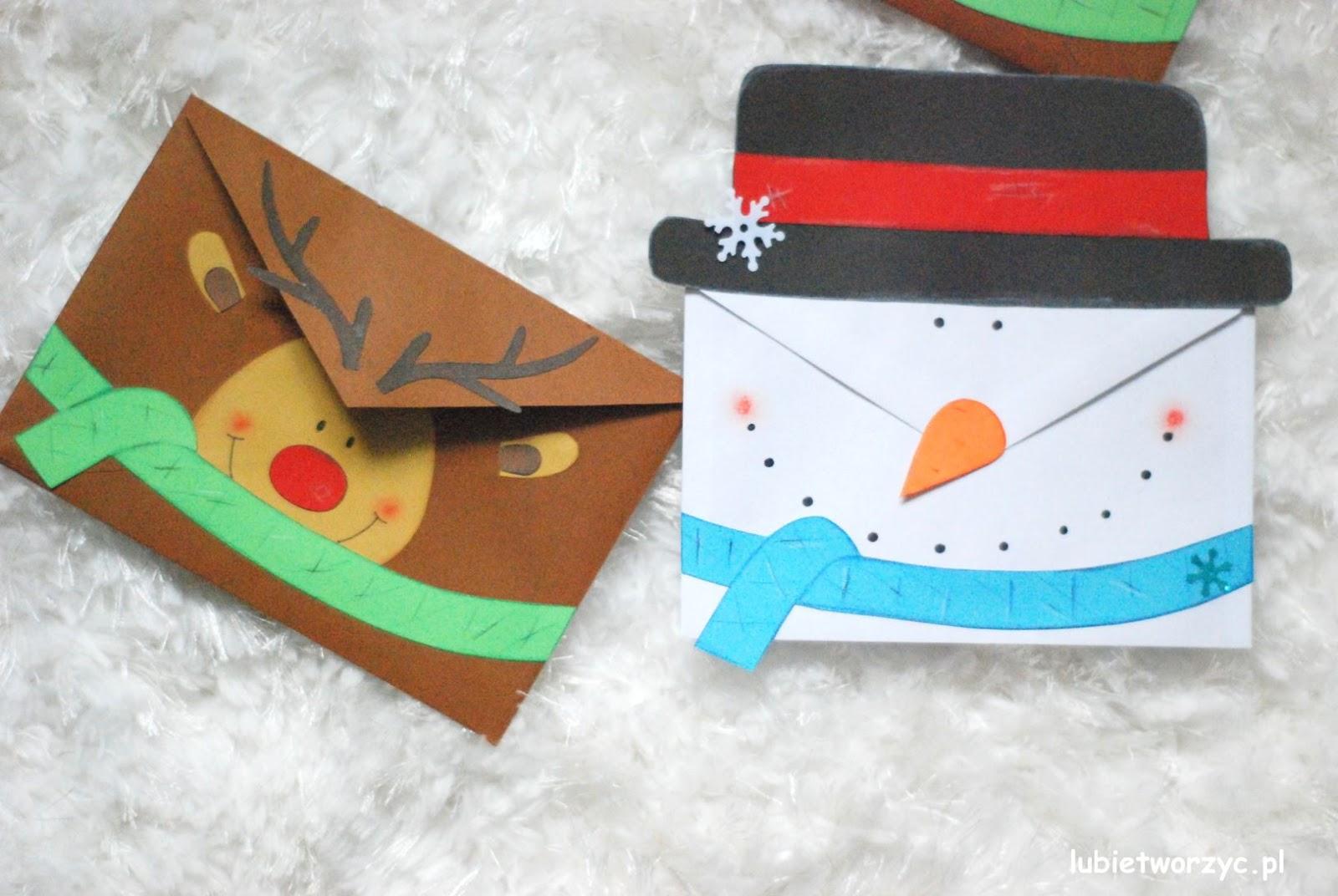 Bałwanek i renifer - świąteczne koperty DIY główna 4